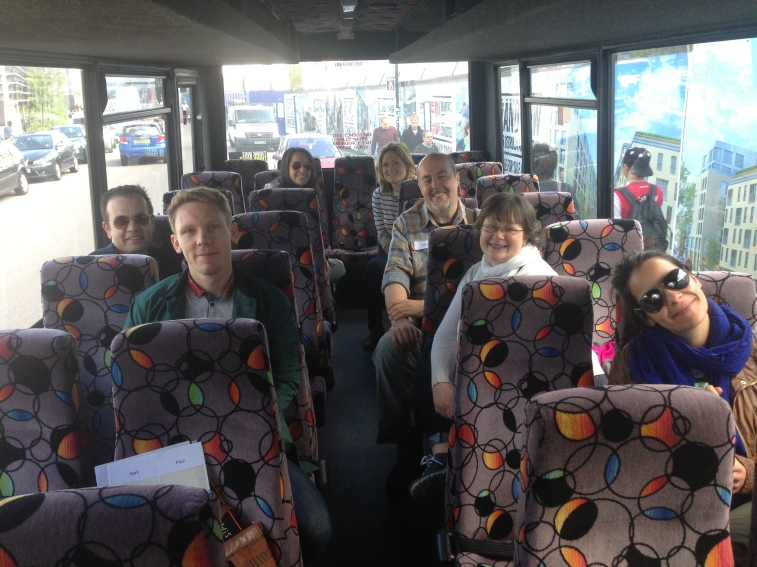 Happy startups on the bus