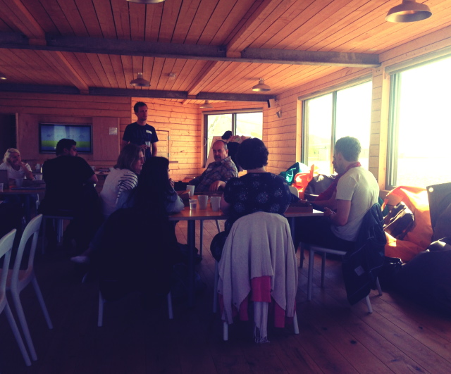 Happy Startups workshop on the beach